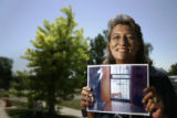 Eleanor Solano (cq) stands in front of her home at 3801 W. 3rd Ave., in Denver on Monday, June 25,...