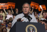 (Greenwood Village, Colo.-September14, 2004) - President George W. Bush gives a speech to the...