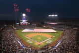 [430] National anthem pregame festivities before  Game 3 of the World Series on Saturday evening,...