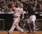 [3064]   Boston Red Sox Manny Ramirez strikes out in the seventh inning of Game 3 of the World...