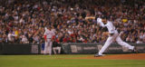 [5065]  Colorado Rockies pitcher Aaron Cook delivers a pitch in the third inning of Game 4 of the...