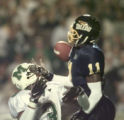 SPT December 4, 1998 - UT's Kelly Herndon breaks up a pass intended for Marshall's Nathan Poole in...