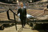 0249 {seqn} Howard Dean, Democratic National Convention Chairman attends a media walkthrough at...