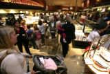 It was getting crowded with the 10% off a purchase of $50 on the opening day of Safeway store in...