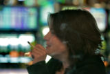 Anna Taylor (cq) enjoys a cigarette as she gambles at Doc Holiday Casino in Central City October...