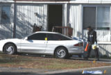 Federal Heights Police  Crime  search for evidence at the Kimberly Hills Mobile Home Park  at W....
