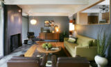 The living room of the home of Kristen Tait, owner of the boutique, Decade, on June 13, 2007.   We...