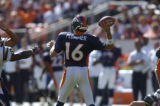 (Denver, Col, September 26, 2004)  Game action in the first quarter of the Denver Broncos against...