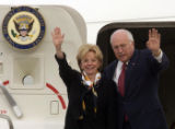 (Buckley Air Force Base, Colo., on Thursday, Sept. 30, 2004). U.S. Vice President Dick Cheney,...