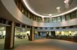 University Hospital Research Library atrium interior . A look at the burgeoning architecture at...