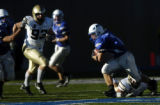 Air Force's Chad Hall breaks his own record on this run while passing the 260 yard mark for the...