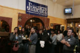 Supporters of Arturo Jimenez, candidate for DPS school board seat representing northwest Denver,...
