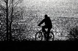 Mike Rister goes for a bike ride around Dillon Reservoir, Wednesday afternoon, November 7, 2007,...