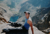 DLM5266  A family photo of Andy Blood at the top of Longs Peak taken before he was paralyzed in a...