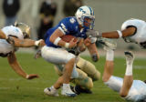 (COLORADO SPRINGS, COLO., SEPTEMBER 30, 2004) -  Air Force Academy quarterback, #5, Shaun Carney,...
