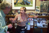 JULIA PENNY---Telling George Stranahan for the very time, Woody Creek Tavern waitress Julia Penny...