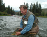 Chuck Obermeyer, proponent of kinder catch-and-release regulations in effect downstream from Green...