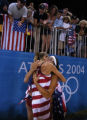 (Athens, Greece  on Tuesday, Aug. 23, 2004) -  American beach volleyball player Misty May, right,...