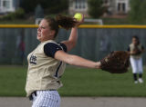 Legacy's pitcher, Shelby Babcock in the 5th inning during the class 5A nonleague softball, at...