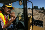 Ramon Garcia (cq), a construction worker at the build site of the new Benedict Park apartments...