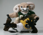 "JPM055 - ""Cam the Ram,"" mascot for Colorado State and ""Chip,"" mascot for the..."