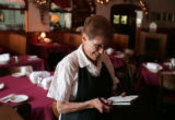 Edith Falasco (cq) 82,  a waitress, works  the lunch shift at Patsy's Restaurant  August 21, 2007....