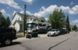 The Brandaw's  Winnebago parked in the driveway of their home at 11433 Switzer park Lane in Parker...