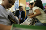 0810 Jaime Aquino, chief academic officer for the Denver Public Schools, speaks with ESL student...
