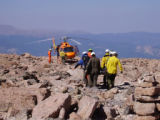 Photos courtesy Rocky Mountain National Park The woman involved in the Longs Peak rescue yesterday...