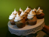 A eggnog flavored display of the tiny cakes bakery Happy Cakes at thenew  in Denver, Colo on...