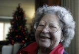 Eleanor Campbell sits in her home Wednesday afternoon december 19, 2007. She was a Christmas Eve...