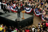 Democratic presidential hopeful Barack Obama speaks to a crowd in Cedar Rapids, Iowa on Saturday,...
