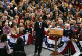 Democratic Presidential hopeful Barack Obama in Cedar Rapids, Iowa on Saturday, December 8, 2007. ...