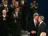 NYT50 - (NYT50) ST. LOUIS -- Oct. 8, 2004 -- DEBATE-RDP-4 -- Democratic presidential candidate...