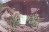Flowers and card placed on Spicer Breeden's doorstep by friends. 03/20/96 (Steve Groer/Rocky...