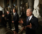 Rep. Mike Coffman, R-CO., talks to the media in Statuary Hall on Capitol Hill in Washington,...