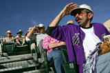 (0562) Jim Smtih, of Ward, watches a fly ball in the 9th inng of the Colorado Rockies against the...