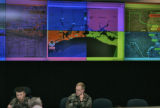 President George W. Bush watched the approach of Hurricane Rita from the U.S. Northern Command...