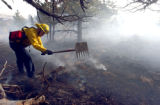 Dozens of homes around Carter Lake in Colorado have been evacuated by authorites as a wildfire...