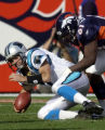 (DENVER., CO., OCTOBER 10, 2004) Denver Broncos' #31, Kelly Herndon, right, breaks a pass...