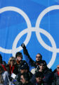 Antoine Deneriaz, of France, won the Men's Downhill skiing event at the 2006 Winter Olympic Games,...
