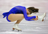 U.S. figure skater Emily Hughes performs during the Short Program of the Women's Figure Skating...