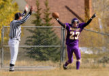 (FOUNTAIN, Co., SHOT 10/2/2004) Lake County Panthers' WR/DB Cody Ehlenfeldt (#23, senior)...