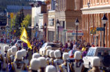 (FOUNTAIN, Co., SHOT 10/2/2004) Most of the town of Leadville shows up for the Homecoming Parade...