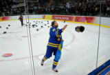 Sweden's Men's ice hockey team grabbed the gold medal for their victory over Finland in the 2006...