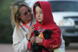 Teddy Gray and her nephew Evan Thompson, an 8 year old boy who had been missing since early...