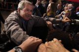 (10/08/2004) Morrison-President George W. Bush greets supporters at Red Rocks Amphitheater in...
