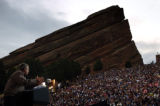 (10/08/2004) Morrison-President George W. Bush speaks to supporters at Red Rocks Amphitheater in...