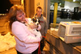 (DLM4212) - Vonda Lundstrom, 44, and her son, Mark Lundstrom,16, are reunited with their dog Daisy...