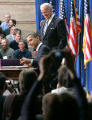 580 President Barack Obama signs the $787 billion economic stimulus bill with Vice Prsident Joe...